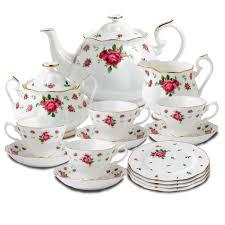 country roses tea set royal albert new country roses white bone china tea set