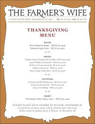 thanksgiving traditional thanksgivinginner menu list splendi