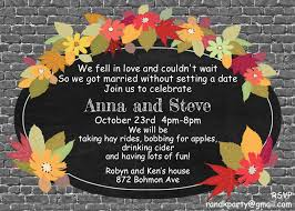 Halloween Poems For Invitations Elopement Party Invitations New Selections Fall 2017