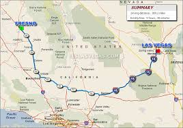 map of fresno to las vegas driving distance map