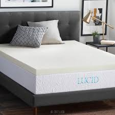 Bedroom Cool Mattress Topper For Amazon Com Lucid 3