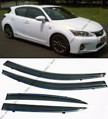 ebay motors lexus ct200h jdm smoke tinted window visor wtih chrome trim fits zwa10 2011 16