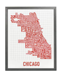 Red Line Chicago Map by Chicago Neighborhood Map 11