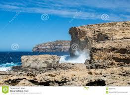 plaats waar azure window na instorting in gozo eiland malta was