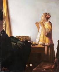 vermeer pearl necklace woman with a pearl necklace montoya after vermeer collection