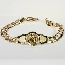 st jude bracelet 6 santa barbara baby bracelet in 14kt yellow gold st jude jewelry