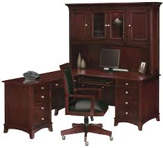 corner l shaped office desk solid wood materials black leather