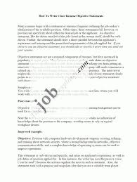 Training Section On Resume Career Objective For Resume How To Write A Career Objective On A