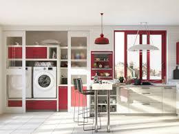 cuisine avec lave linge une cuisine ouverte avec buanderie intégrée cuisine kitchen