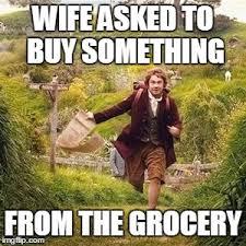 Grocery Meme - hobbit adventure imgflip