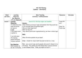 ks1 r e planning and resources symbols u2013 christianity by charpearl