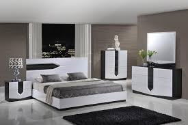 white bedrooms piece bedroom set in zebra grey and white high gloss in the hudson