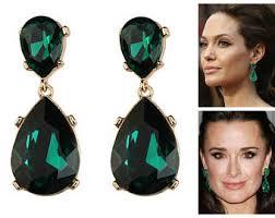 emerald earrings emerald earrings etsy