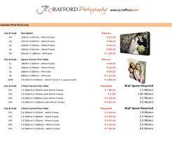 videographer prices jc crafford printing pricelist 1 jc crafford photo and