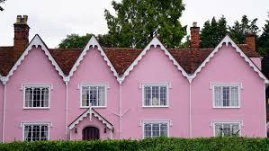 Haus Immobilien Kostenlose Bild Haus Rosa Fassade Dach Immobilien