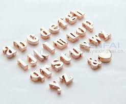 gold letters necklace images Pick 10pcs from 9mm lowercase a z rose gold alphabet english jpg