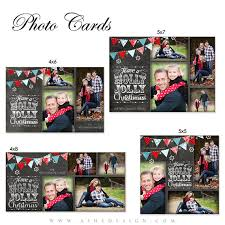 christmas card design chalkboard holly jolly christmas photo