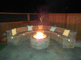 Firepit Bench J L S Review Backyard Pit And In Wall Lighting Of