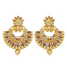 dangler earrings kriaa gold plated austrian dangler earrings the99jewel