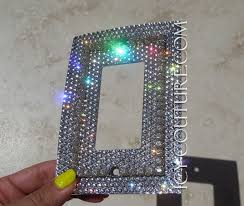 rocker light switch cover single rocker style bling light switch plate cover with 3d crystal