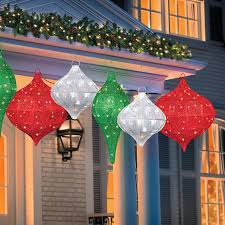 lighted hanging ornament outdoor decorations