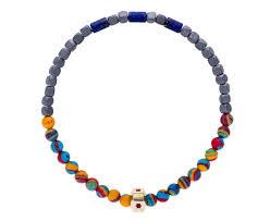 multi colored gold bracelet images Luis morais multi colored and gold enamel bead bracelet in jpg