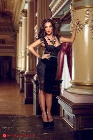 atmosphere rochii rochie trei sferturi catifea neagra cu insertii de dantela rn 35