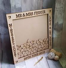 wedding guest book picture frame laser cut out drop box wedding guest book frame