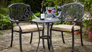 Aluminium Bistro Chairs Amalfi Bistro Set Amalfi Cast Aluminium Garden Furniture