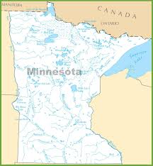 Map Of Michigan Lakes by Minnesota Lakes Map