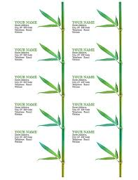 Avery Template Business Card Business Cards Bamboo 10 Per Page Works With Avery 5371 And