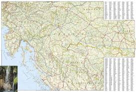 Italy Road Map by Croatia National Geographic Adventure Map National Geographic