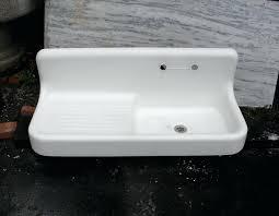 Antique Porcelain Kitchen Sink Vintage Kitchen Sinks For Sale Vintage Basin Drainboard