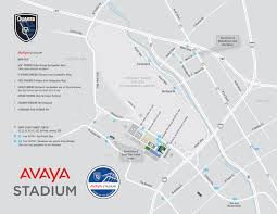 Concord California Map Parking U0026 Directions San Jose Earthquakes