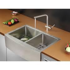 Faucet Kitchen Sink Ruvati Rvh9201 Apron Front 16 Gauge 33 U2033 Kitchen Sink Double Bowl