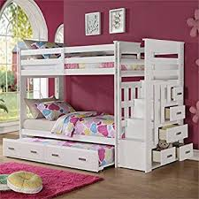Amazoncom ACME Furniture  Allentown Twin Over Twin Bunk Bed - Twin over twin bunk beds