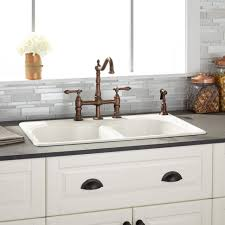 Industrial Kitchen Sink Other Kitchen Widespread Cast Iron Drop In Kitchen Sink
