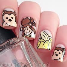 cdbnails nail art challenges monkeys and bananas