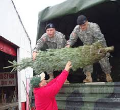 trees for troops program at beckwith choose and cut christmas