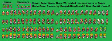 newer super mario bros wii smb3 hammer suit sheet