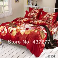Best Cotton Sheet Brands Brand New Romantic Flower Red Love Bedding Set Bed Clothes 100