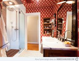 15 stunningly red bathroom designs home design lover