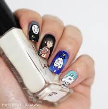 spirited away nail art makeup withdrawal