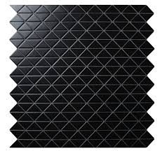 zip connection 2 u0027 u0027 matte black triangle mosaic tile kitchen wall