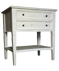 side table maine white wooden bedside table with 3 drawers for