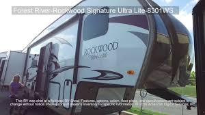 Rockwood Camper Floor Plans New 2017 Forest River Rv Rockwood Signature Ultra Lite 8301ws