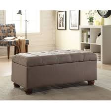 dark brown storage bench for bedroom faux leather upholstery