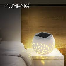 2017 mumeng rgb night light solar table lamp light control