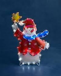 White Dog Outdoor Christmas Decoration by Premier Fibre Optic Santa With Stars Christmas L Love