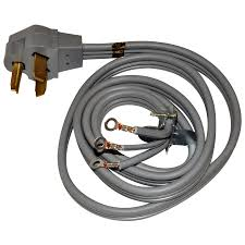 shop whirlpool 4 foot 3 wire 30 amp dryer cord at lowes com
